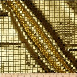 Sequin Check Mesh Gold