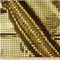 Sequin Check Fabric Gold