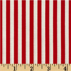 Basic Training Stripe Red/White Fabric