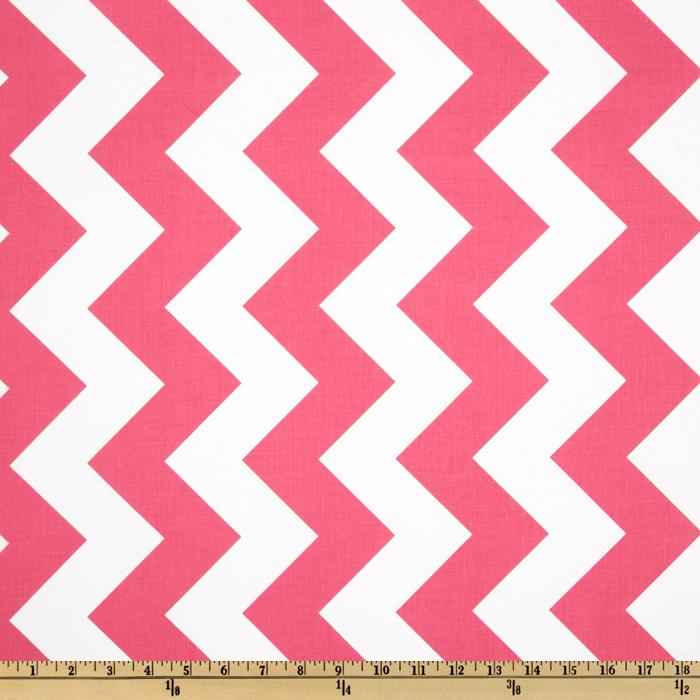 Riley Blake Chevron Large Hot Pink - Discount Designer Fabric ...