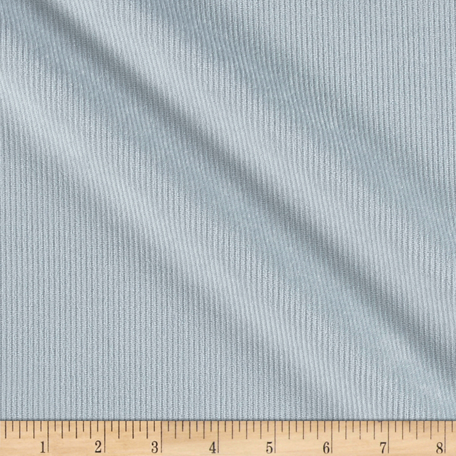 10 Wale Polyester Corduroy Ice Grey Fabric by Logantex in USA