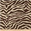 Printed Burlap Zebra Brown