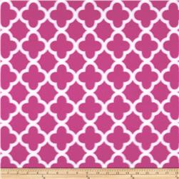 Polar Fleece Quatrefoil Pink