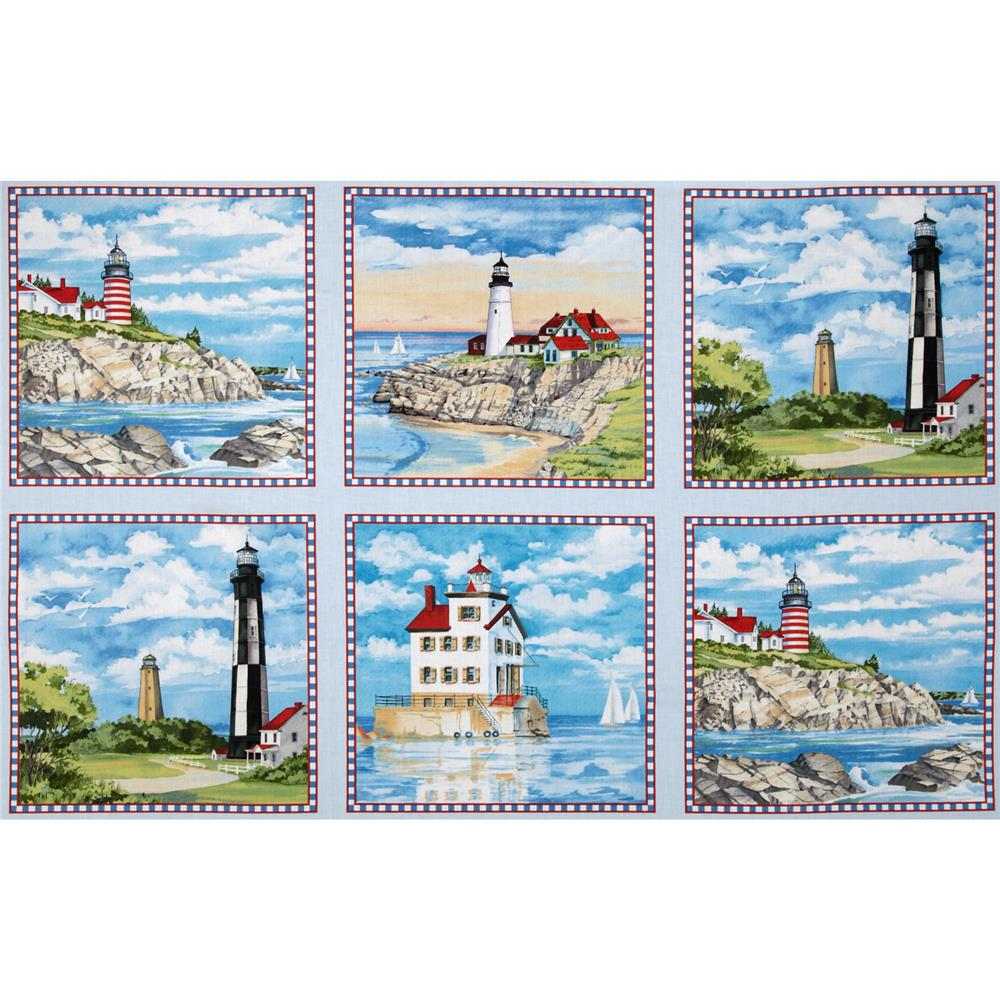 Lighthouses Panel Blue