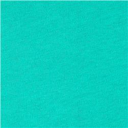 Cotton Jersey Knit Solid Mint Leaf