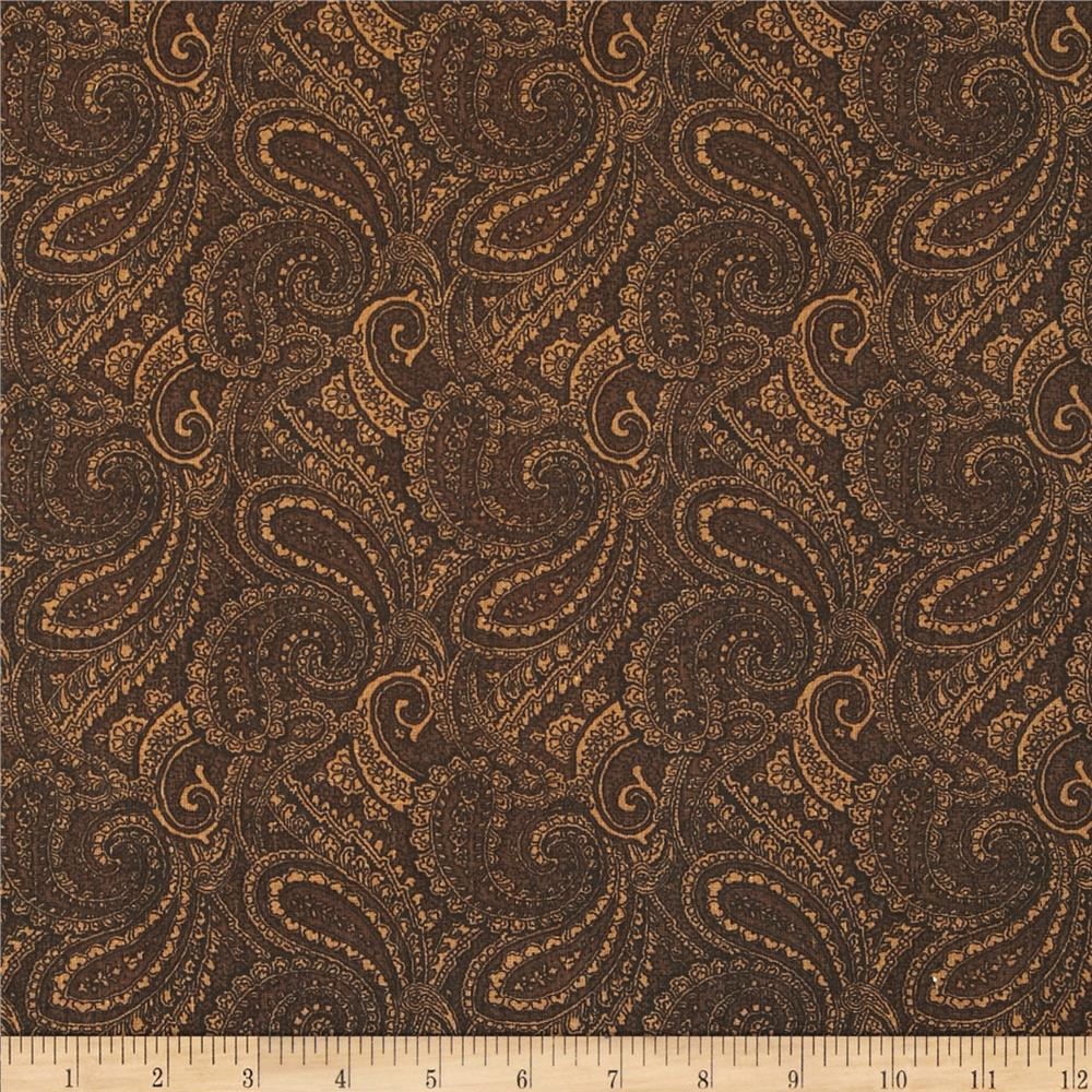 "Paisley 108"" Wide Back Brown - Discount Designer Fabric ..."