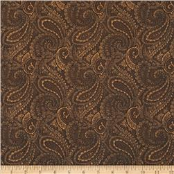 108'' Complementary Quilt Backing Paisley Brown Fabric