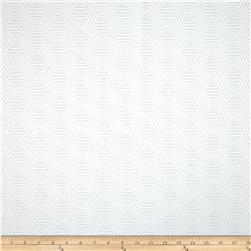 HGTV HOME Hex Appeal Solid Jacquard White