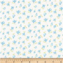 Moda Sweet Baby Flannel Sweet Roses Sky/Cloud