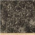 Contempo Hand Made Faux Linen Damask Smoke