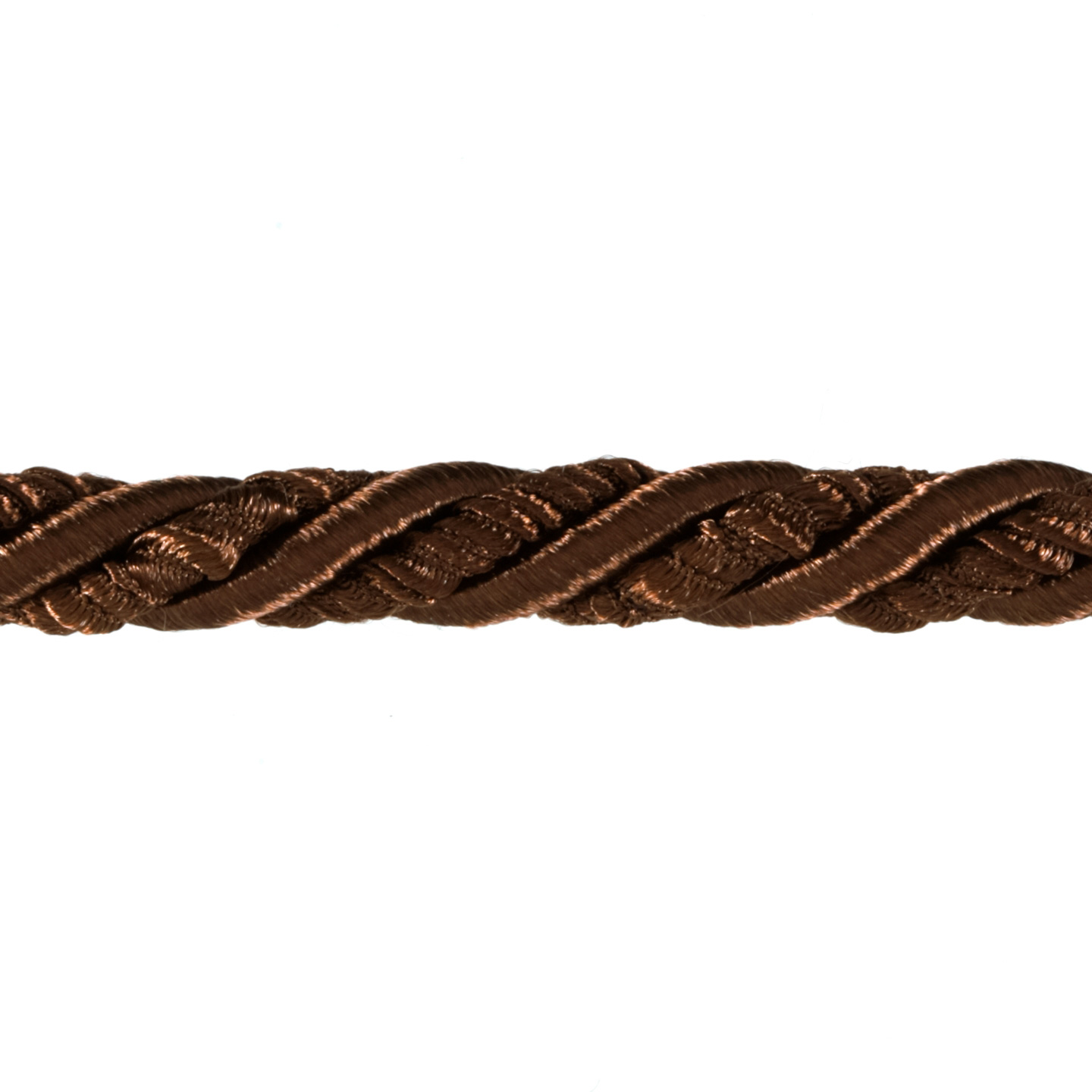 Shanae 3/8'' Twisted Cord Trim Chocolate Fabric