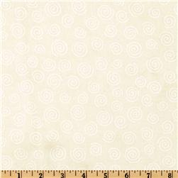 110'' Wide Quilt Backing Swirl Cream