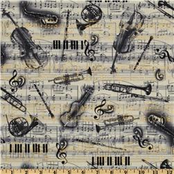 All That Jazz Musical Montage Grey Fabric