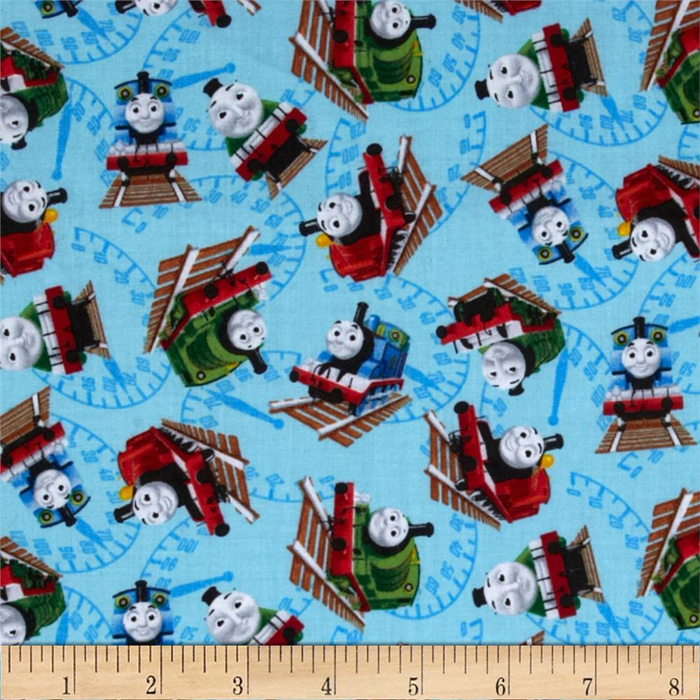 Thomas the train discount designer fabric for Train themed fabric