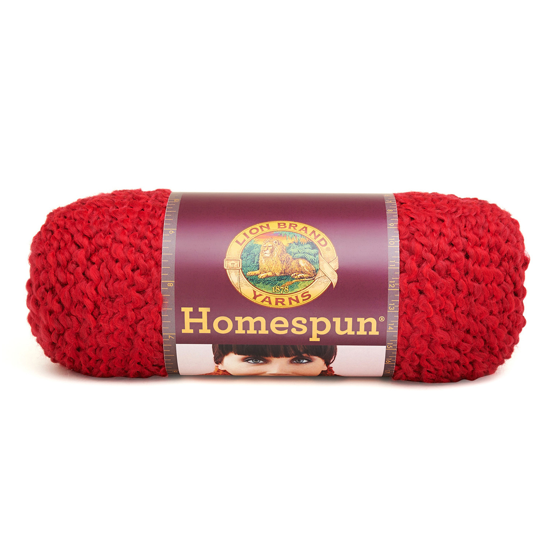 Lion Brand Homespun Yarn (375) Candy Apple
