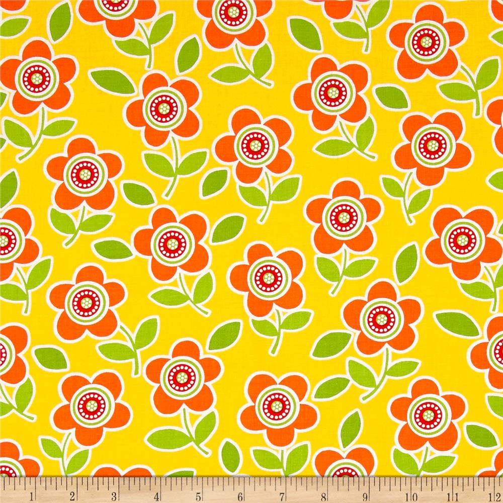 Are We There Yet Floral Yellow