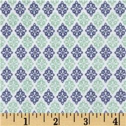Riley Blake A Beautiful Thing Flannel Diamonds Navy