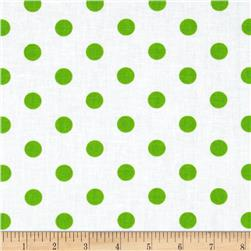 Spot On II Polka Dots White/Green