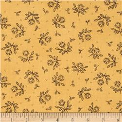 Moda Round Robin Blooming Stars Goldenrod Yellow