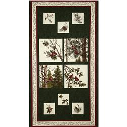 Moda Winter's Song 24 In. Panel Pine