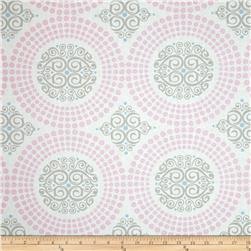 Concord House Cotton Harper Medallion Pink