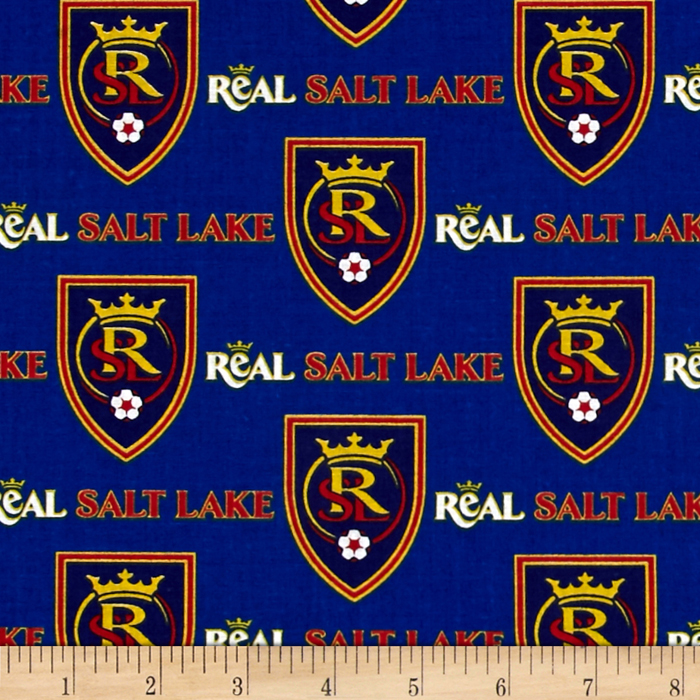 MLS Cotton Broadcloth Salt Lake Real Blue Fabric by Fabric Traditions in USA