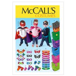 McCall's Children/Boys'/Girls' Cape Belt Cuffs and Masks Pattern