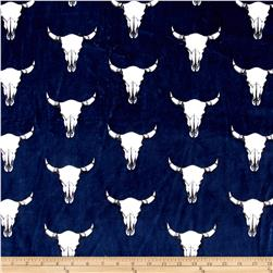 Shannon Minky Cuddle Prints Bull's Eye Navy