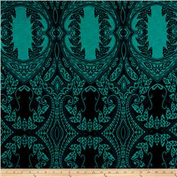 ITY Jersey Knit Beautiful Mosaic Navy Turquoise