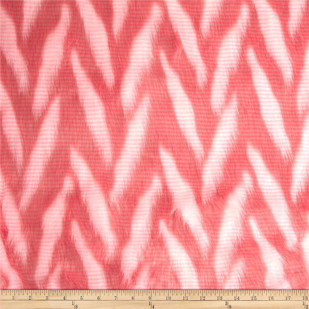Luxury Faux Fur Zig Zag White/Pink