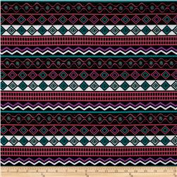 ITY Knit Aztec Pink/Purple/Green/Black