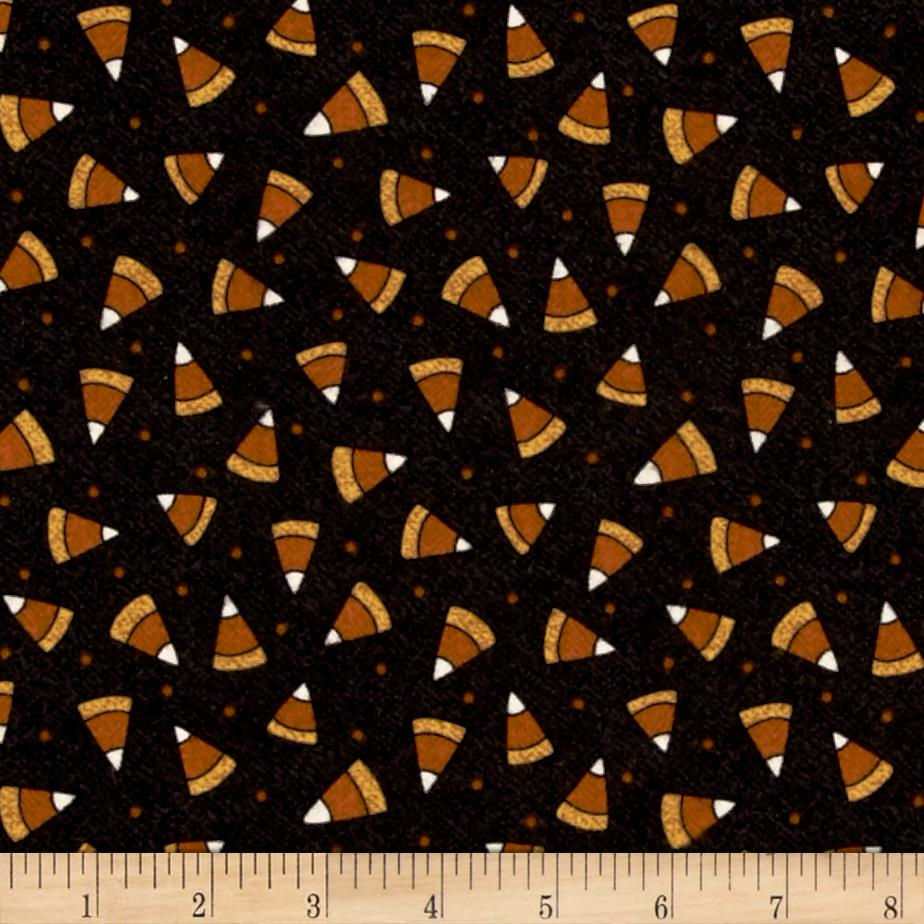 Pumpkin Party Flannel Candy Corn Black Brown