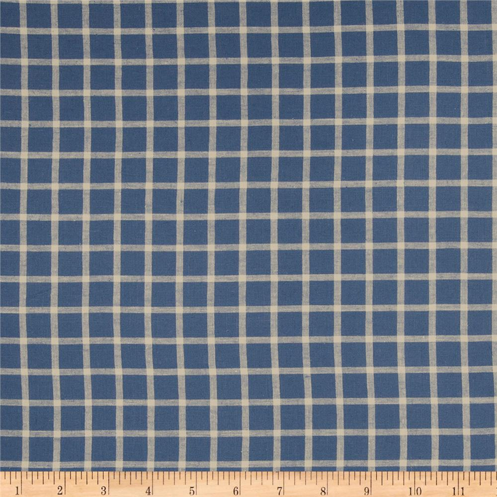 French General Remy Plaid Blend Indigo