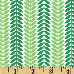 LuLu Leaf Stripe Green