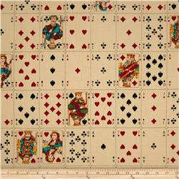 Full Deck Playing Cards Tea Stained