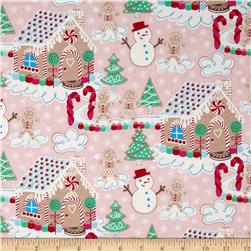 Sugar Rush Gingerbread Dream Pink Fabric