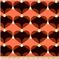 ITY Knit Heart Print Coral/Brown