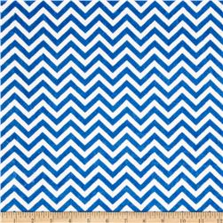 Minky Cuddle Mini Chevron Electric Blue/Snow Fabric