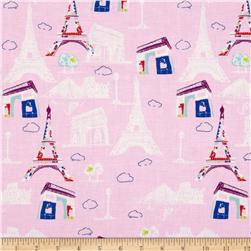 Riley Blake Pepe in Paris Main Pink