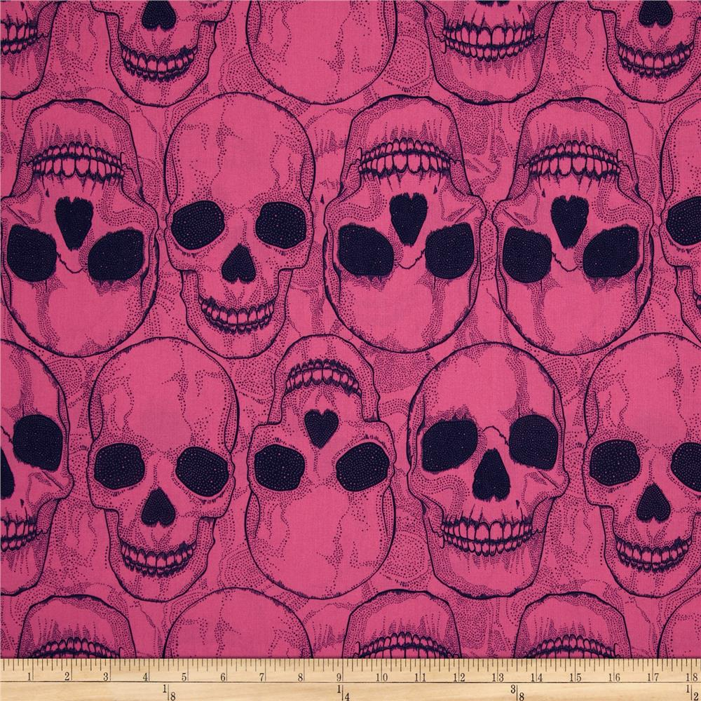 Yorik Skulls Hot Pink/Navy