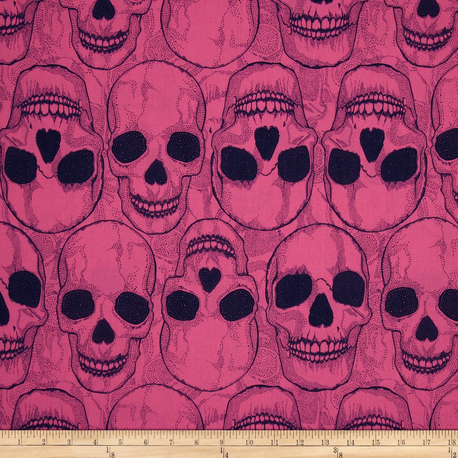 Yorik Skulls Hot Pink/Navy Fabric
