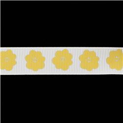 Riley Blake 5/8'' Grosgrain Ribbon Flower Yellow