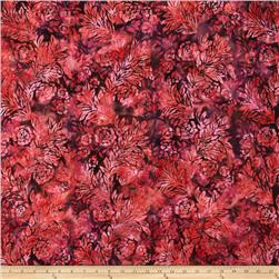 Bali Batiks Handpaints Flower & Leaf Sunset