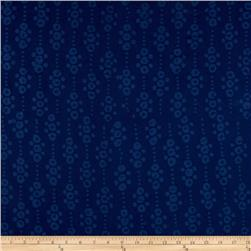 Indian Batik East Side Dots Navy