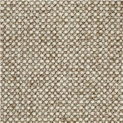 Upholstery Basketweave Brown/White