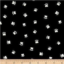 Dog's World Paw Prints Black