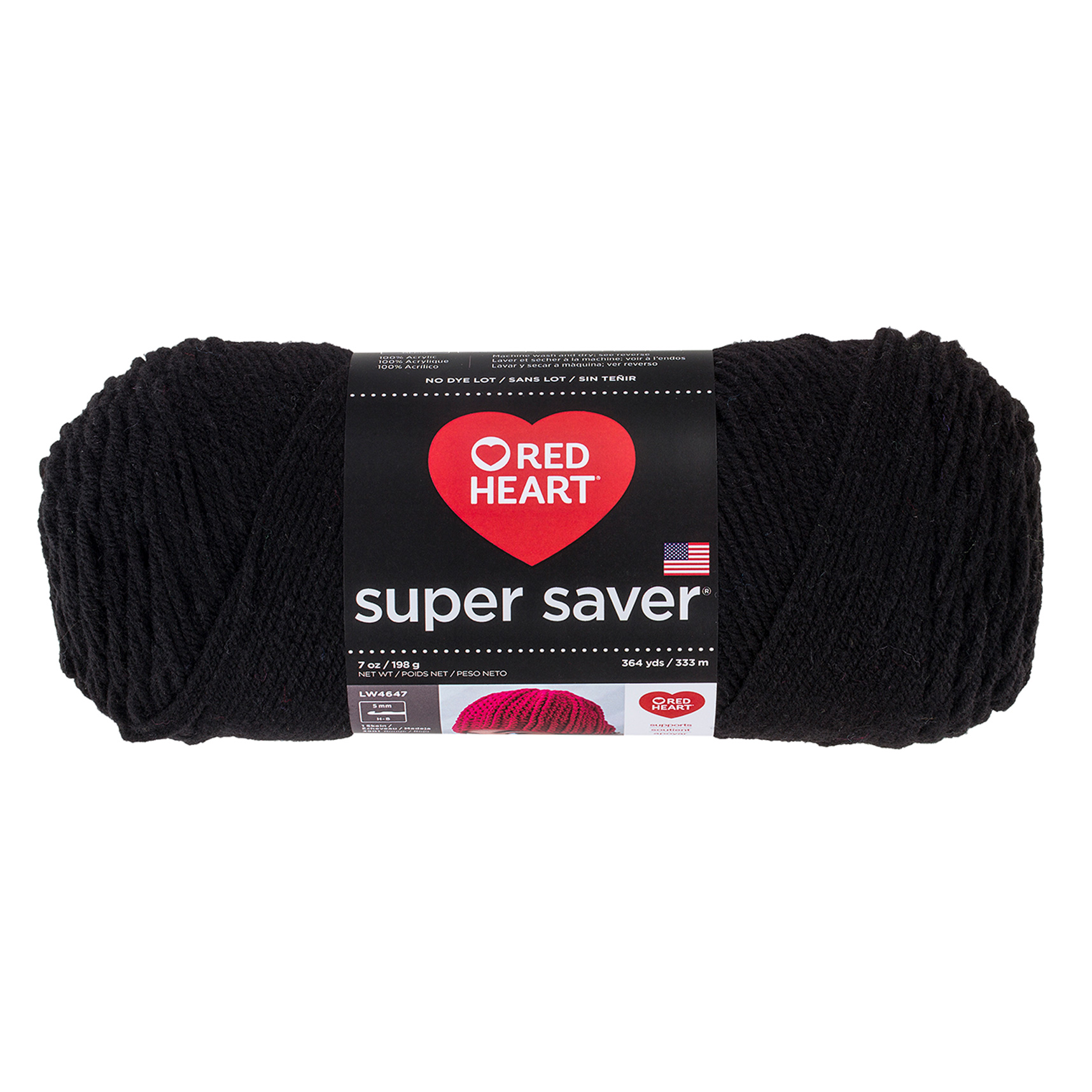 Red Heart Super Saver Yarn 312 Black