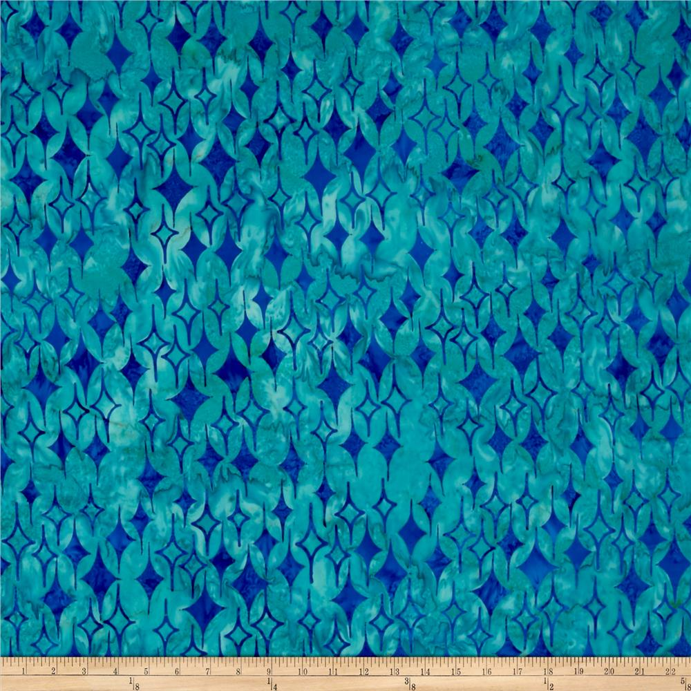 Island Batik Lavish Diamonds Sea Green/Blue