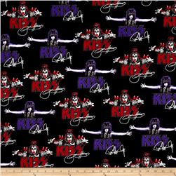 Kaufman Kiss Faces and Words Black