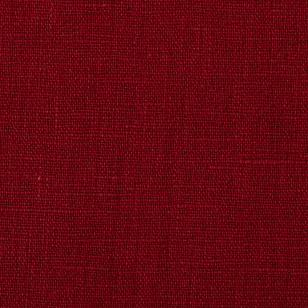 European 100% Washed Linen Scarlet Fabric By The Yard
